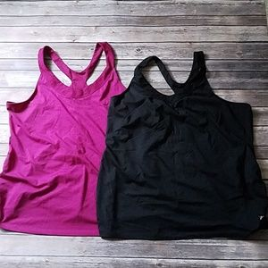 Pair of 2 Old Navy maternity active tank tops XXL
